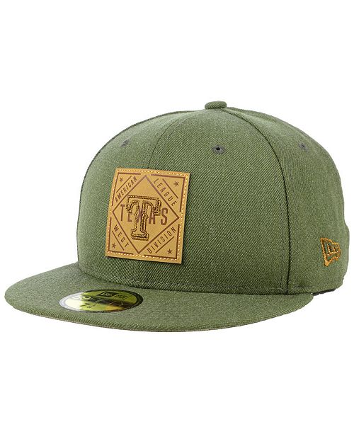 c6b151ebd7be7 ... New Era Texas Rangers Leather Patch 59FIFTY-FITTED Cap ...