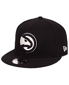 New Era Atlanta Hawks Black White 9FIFTY Snapback Cap