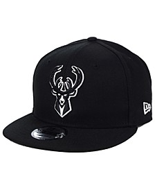 Milwaukee Bucks Black White 9FIFTY Snapback Cap