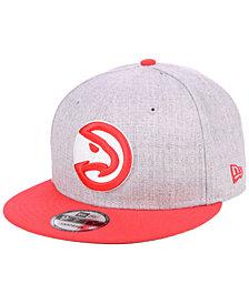 New Era Atlanta Hawks Heather Gray 9FIFTY Snapback Cap