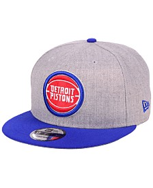 New Era Detroit Pistons Heather Gray 9FIFTY Snapback Cap