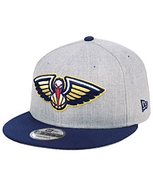 New Era New Orleans Pelicans Heather Gray 9FIFTY Snapback Cap