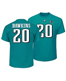 Majestic Men's Brian Dawkins Philadelphia Eagles Hall of Fame Eligible Receiver Triple Peak T-Shirt