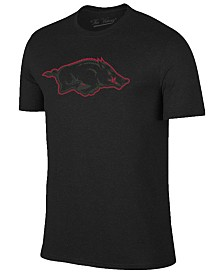Champion Men's Arkansas Razorbacks Black Out Dual Blend T-Shirt