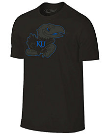 Champion Men's Kansas Jayhawks Black Out Dual Blend T-Shirt