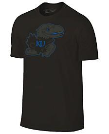Champion Men's Kansas Jayhawks Black Out Dual Blend T-Shirt