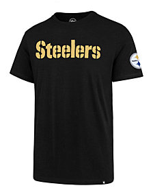 '47 Brand Men's Pittsburgh Steelers Fieldhouse Wordmark T-shirt