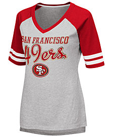 G-III Sports Women's San Francisco 49ers Goal Line Raglan T-Shirt