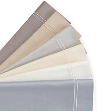 AQ Textiles Double Merrow Embellished 4-Pc Sheet Sets, 700 Thread Count Cotton Blend