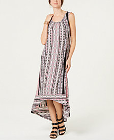 Style & Co Printed High-Low Dress, Created for Macy's