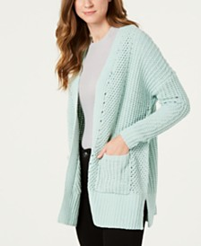 Style & Co Petite Chenille Open-Front Cardigan, Created for Macy's