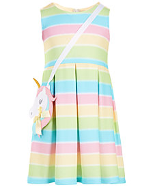 Bonnie Jean Little Girls 2-Pc. Rainbow Pleated Dress & Purse Set