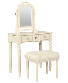 Sadie White Youth Vanity Set