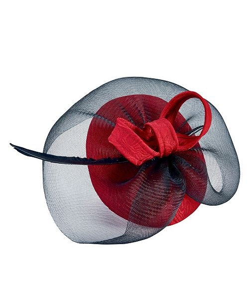 San Diego Hat Company Fascinator With Sinamay Veil/Bow