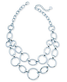 "Alfani Large Link Statement Necklace, 17"" + 2"" extender, Created for Macy's"