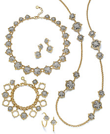 Charter Club Two-Tone Crystal Cluster Jewelry Separates, Created for Macy's