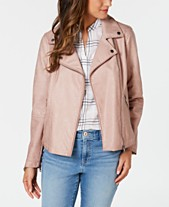 2b5470aa3a9f Faux Leather Jackets for Women - Macy s