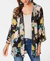 40492cc42264e Style   Co Petite Printed Ruffled Open-Front Top
