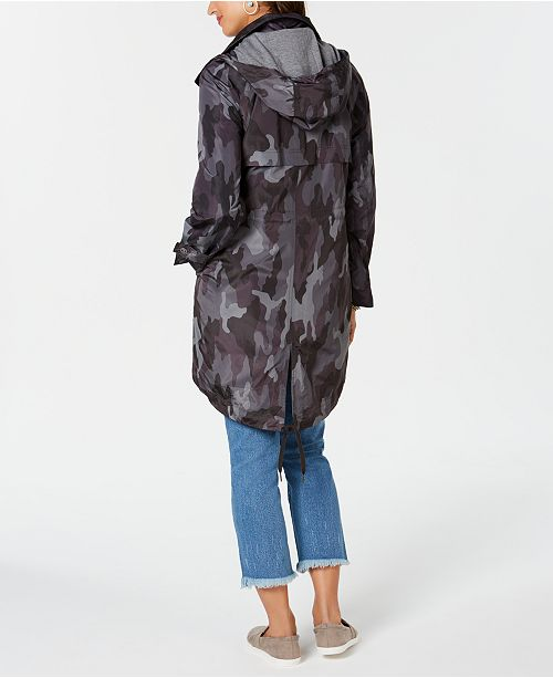 4de6cc1371960 Style & Co Camo-Print Hooded Jacket, Created for Macy's & Reviews ...