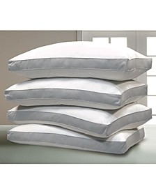 1000 Thread Count Cotton Damask Optima-Loft® Down Alternative 4-Pack of Jumbo Pillows