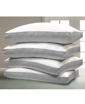 1000 Thread Count Cotton Damask Optima-Loft Down Alternative 4-Pack of Jumbo Pillows
