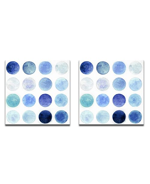 Ready2HangArt 'Blue Lunar I/II' 2 Piece Abstract Canvas Wall Art Set