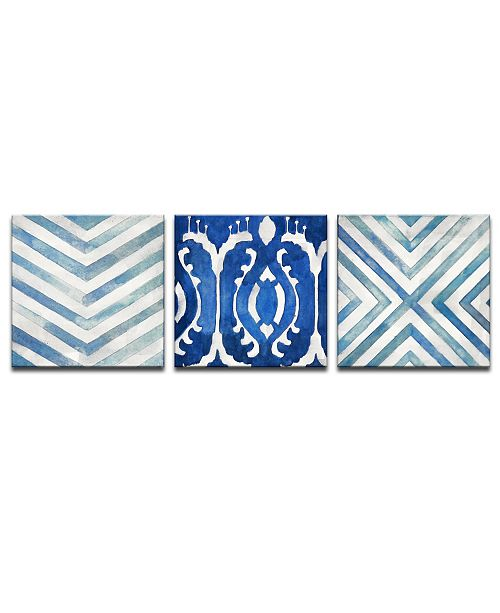 Sea Couture B 3 Piece Abstract Canvas Wall Art Set