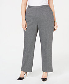 Alfred Dunner Plus Size Printed Pull-On Pants
