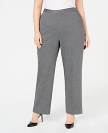 Alfred Dunner Plus Size Grand Boulevard Printed Pull-On Pants