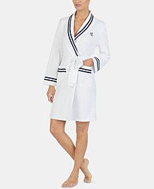 Lauren Ralph Lauren Stripe-Trimmed Wrap Robe