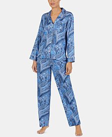 Lauren Ralph Lauren Printed Notch Collar Pajama Set
