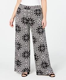 John Paul Richard Plus Size Printed Soft Pants