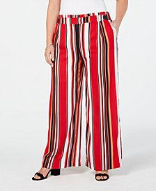 John Paul Richard Plus Size Striped Soft Pants