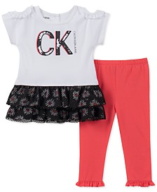 Calvin Klein Baby Girls 2-Pc. Tunic & Leggings Set