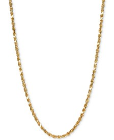 "Forza Rope 18"" Chain Necklace in 14k Gold"