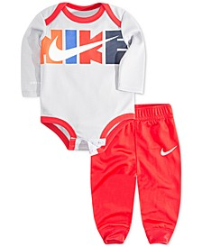 Baby Boys Dri-FIT Logo Bodysuit & Jogger Pants Set