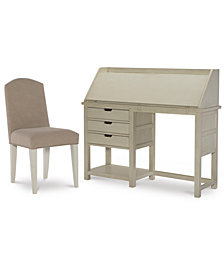 Study Hall Kid's Home Office Furniture, 2-Pc. Set (Junior Secretary Desk & Chair)