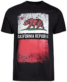 California Republic Grunge Men's Graphic T-Shirt
