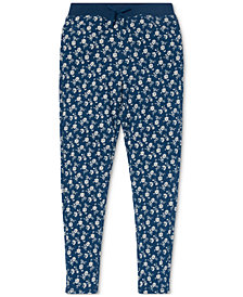 Polo Ralph Lauren Big Girls Floral-Print Cotton Terry Pants
