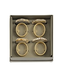 Shiraleah Agate Napkin Rings
