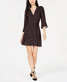 French Connection Verona Edith Floral-Print Wrap Dress