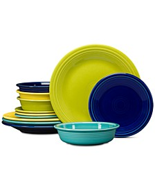 Cool Colors 12-Pc. Classic Dinnerware Set, Service for 4