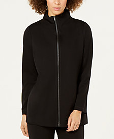 Eileen Fisher Ponte Stand-Collar Zip-Up Jacket, Regular & Petite