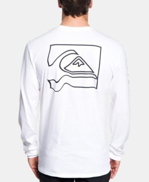 QUIKSILVER Men'S Graphic Long-Sleeve T-Shirt in White