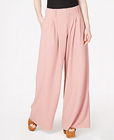Bar III Pleated Wide-Leg Pants, Created for Macy's
