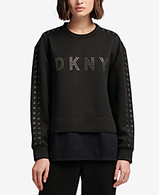 DKNY Grommet Logo Top, Created for Macy's