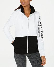 Calvin Klein Performance Colorblocked Zip Hoodie