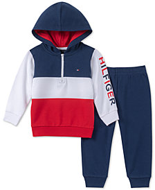 Tommy Hilfiger Baby Boys 2-Pc. Colorblocked Hoodie & Jogger Pants Set