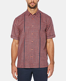 Cubavera Men's Gingham Short-Sleeve Linen Shirt