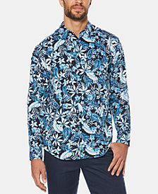 Cubavera Men's Paisley Floral-Print Long-Sleeve Shirt
